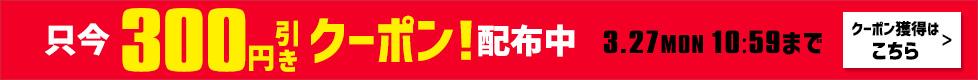 クーポン「8000円以上で300円OFF」配布中。獲得はこちら!