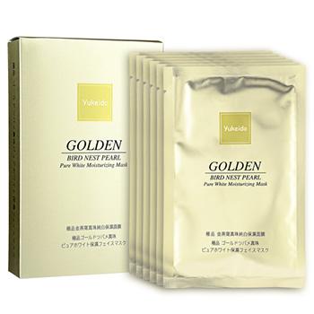 ユケイドー 極品 ゴールドツバメ真珠 ピュアホワイト保湿フェイスマスク 30g×6枚