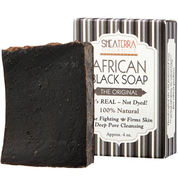 シアテラオーガニックス オーセンティック アフリカン ブラック ソープ 141g