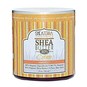 シアテラオーガニックス シアバター 30% クリーム(マンゴー) 236ml
