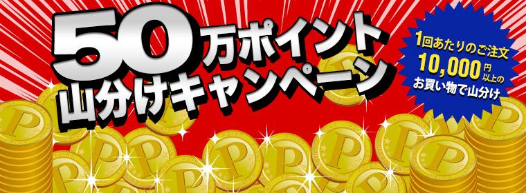 50万ポイント山分けキャンペーンスタート!