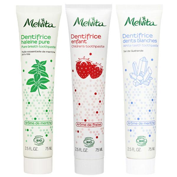 メルヴィータ 選べる3個:エッセンスビオ トゥースペースト(歯磨き粉) 75ml