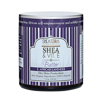 シアテラオーガニックス シア&ビタミンEバター(サウスアフリカンラベンダー) 138ml